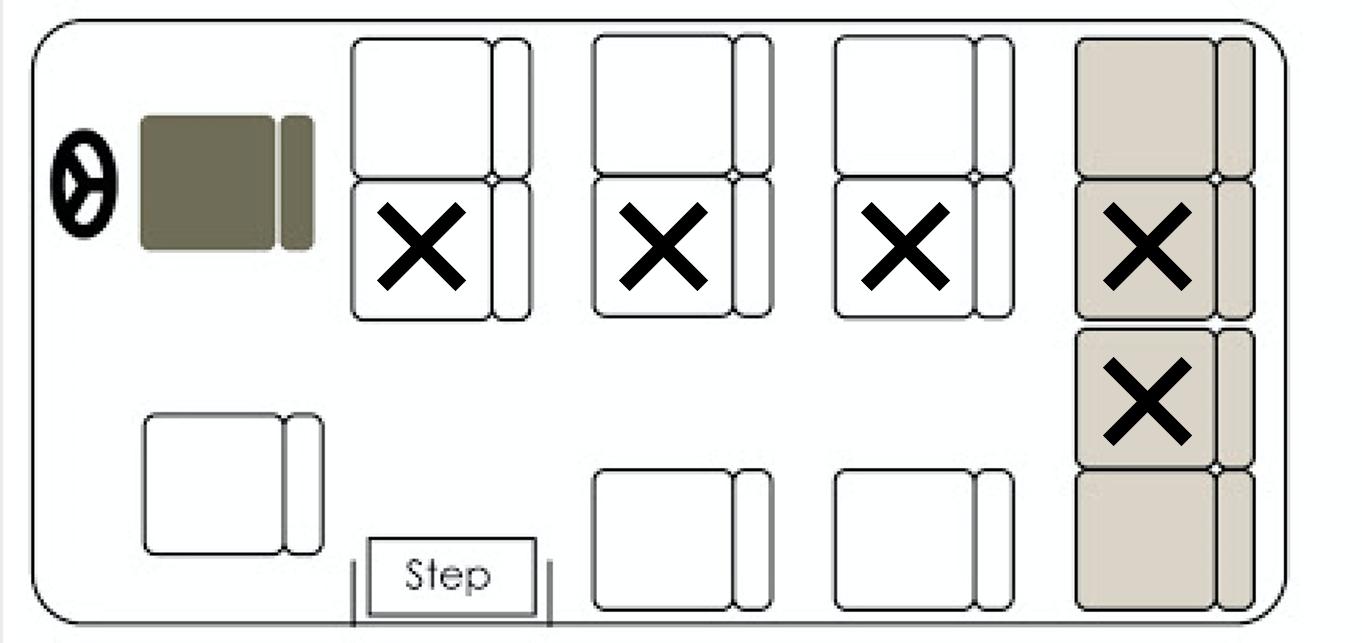 13-seater bus (8 pax)